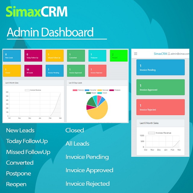 Simax CRM - Multipurpose CRM in Dot Net Core - 2