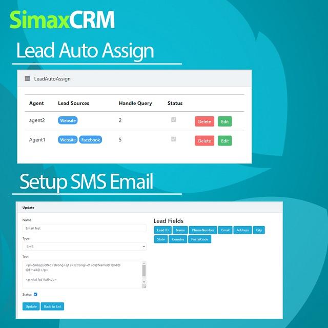 Simax CRM - Multipurpose CRM in Dot Net Core - 3