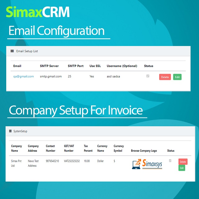 Simax CRM - Multipurpose CRM in Dot Net Core - 4