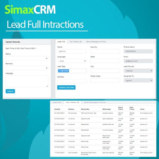 Simax CRM - Multipurpose CRM in Dot Net Core - 8